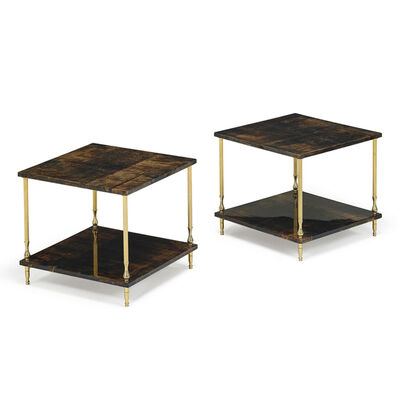 Aldo Tura, 'Pair Of Side Tables, Italy', 1960s