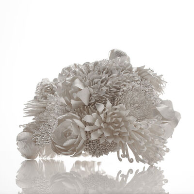 Junko Mori, 'Silver Poetry; Spring Fever Tanka', 2019