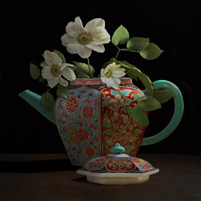 T.M. Glass, 'Clematis in a Chelsea Teapot ', 2017