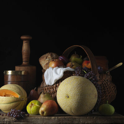 Paulette Tavormina, 'Still Life with Melons and Basket, after L.M.', 2014