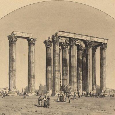 Themistocles von Eckenbrecher, 'Temple of Olympian Zeus', 1890