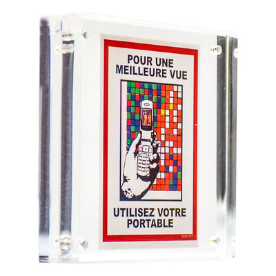 Invader, 'QR READER STICKER (Framed)', 2011