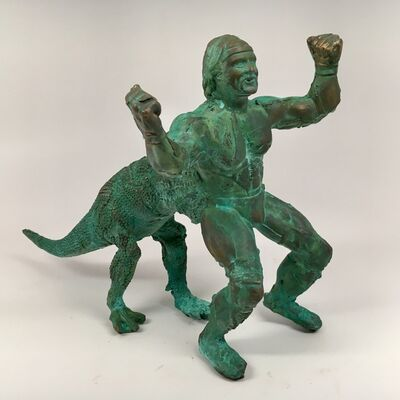 Joshua Goode, 'Bronze, hand cast, patinead sculpture: 'Hulktaur'', 2018