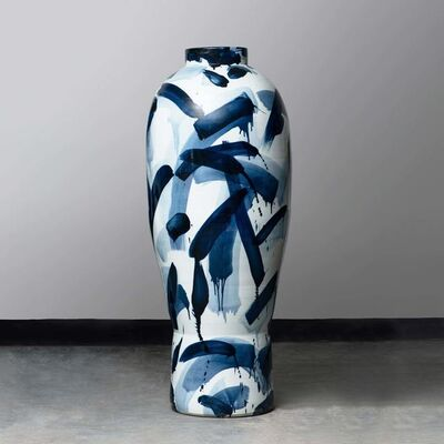 Felicity Aylieff, 'A Blue & White Monumental Vase', 2019