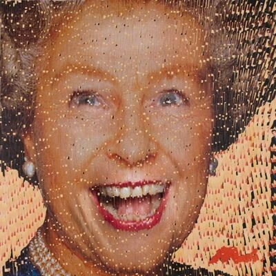 David Mach, 'Laughing Queen', 2008