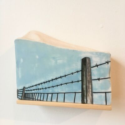 Tiffany Bailey, 'Barbed Wire Fence', 2018
