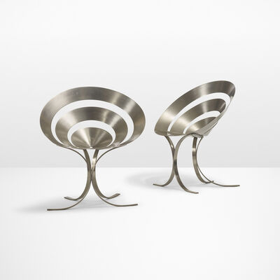Maria Pergay, 'Important pair of Ring chairs', 1968