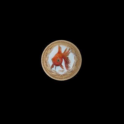 Carlos Alarcón, 'Painted Numismatics - Goldfish', 2020