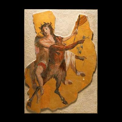 Italy, Rome, Roman Empire, 'Fragment of a Roman Fresco Wall Painting', 1 st Century AD