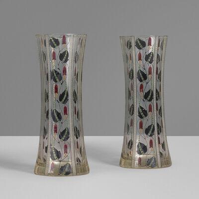Wiener Werkstätte, 'Vases, pair', c. 1910