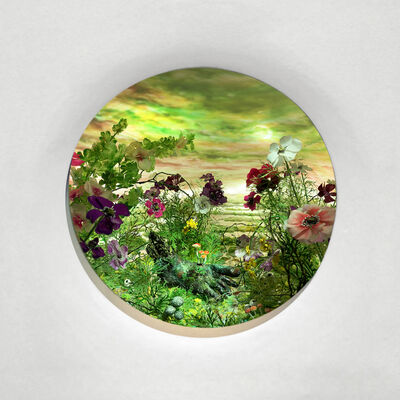 Patrick Jacobs, 'Green Sickle Moon (Diorama viewed through 2.75 inch window)', 2020