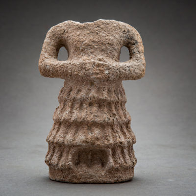 Unknown Sumerian, 'Sumerian headless male figurine', 3000 BCE-2300 BCE