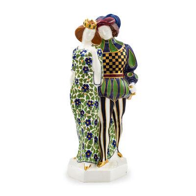 Ernst Wahliss, 'Ernst Wahliss Karl Klaus and Franz Staudigl figurine Prince and Princess Serapis Faience model no. 1538 ca. 1911', ca. 1911