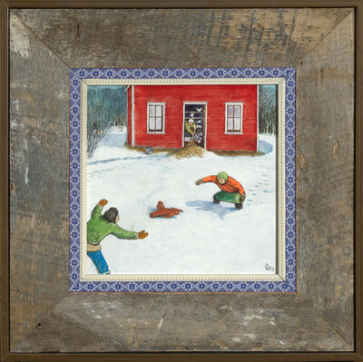 William Kurelek, 'Chasing a Chicken', n.d.