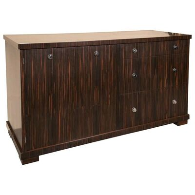 Ralph Lauren, 'Zebrawood Willie Chest Sideboard with Nickel Pulls by Lauren', 2000