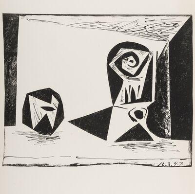 Pablo Picasso, 'Composition au verre a pied (Bloch 431; Mourlot 77)', 1947