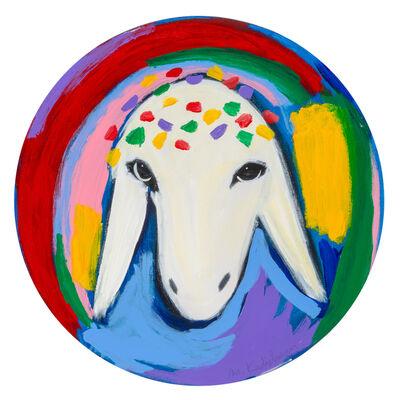 Menashe Kadishman, 'Menashe Kadishman, Sheep head 21', 1980-1990