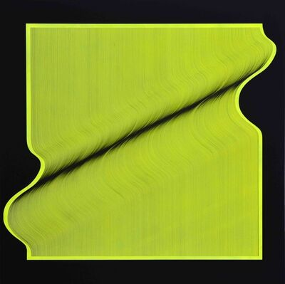 Roberto lucchetta, 'Fluo surface 2020 - geometric abstract painting', 2020