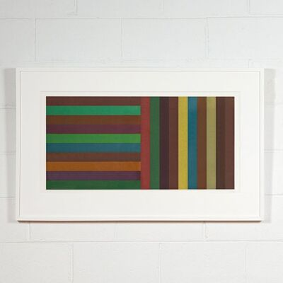 Sol LeWitt, 'Horizontal Color Bands and Vertical Color Bands: Green (Plate #2)', 1991