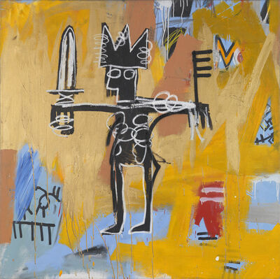 Jean-Michel Basquiat, 'Untitled (Julius Caesar on Gold)', 1981
