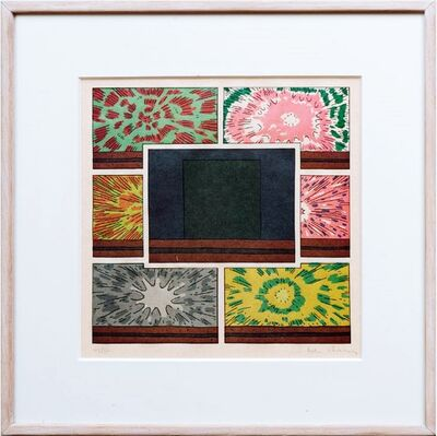 Peter Halley, 'Cell with Explosions II', 1993