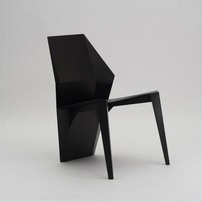 06D Atelier, 'Centaurus sculptural chair black', 2019