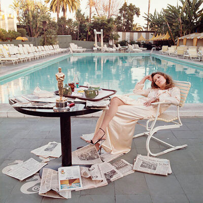 Terry O'Neill, 'Faye Dunaway Oscar Color Co-signed Edition'