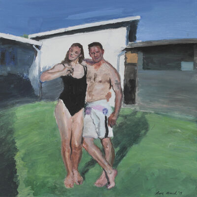 Clare Menck, 'Bather couple on a lawn ', 2019