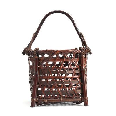 Tanabe Chikuunsai II, 'Well Bucket Style Susudake Flower Basket 19 688', 1910-2000