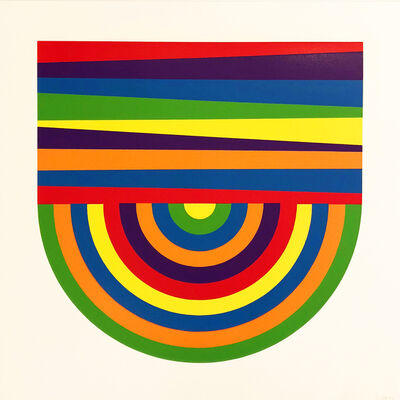 Sol LeWitt, 'Arcs and Bands in Color B', 1999