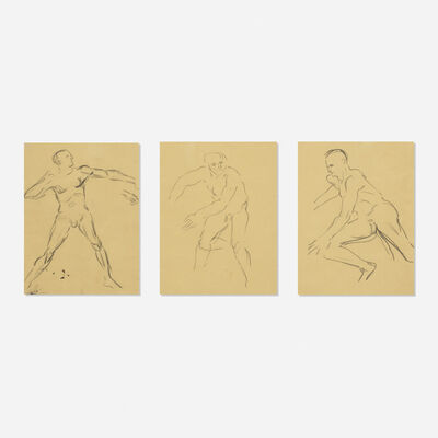 Leon Golub, 'Untitled (three works)'