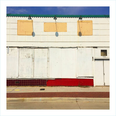 William Greiner, 'Boarded Facade South Side, Fort Worth TX', 2018