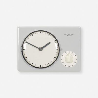 Max Bill, 'Wall clock and timer', c. 1954