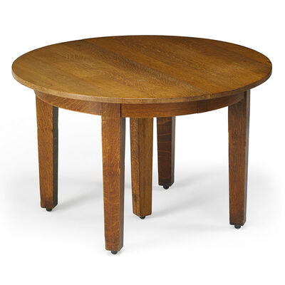 Gustav Stickley, 'Five-leg dining table, Eastwood, NY', 1910s
