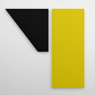 Jaime Poblete, 'Untitled Black & Yellow (diptych)', 2018