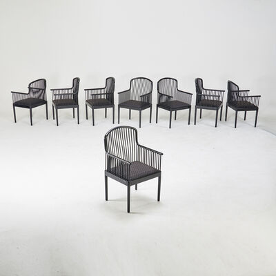 """Knoll Studio, 'Set of eight """"Exeter"""" spindle armchairs', 1990s"""