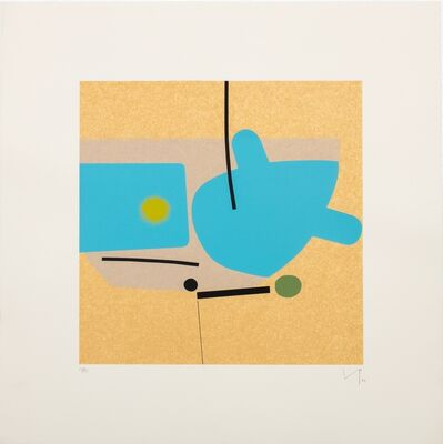 Victor Pasmore, 'Two Images (Blue)', 1984