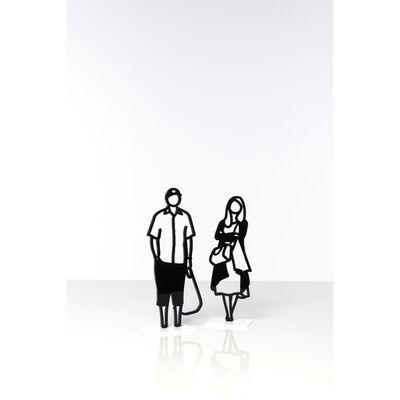 Julian Opie, 'Standing figures : Plastic Bag, Cardigan', 2018