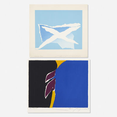 Adja Yunkers, 'The Hamptons; Sun in Exile (two works)', 1974 and 1977