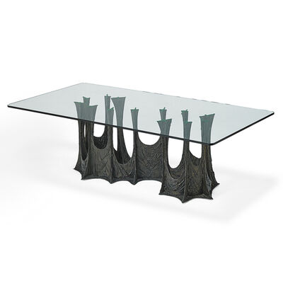 Paul Evans, 'Sculptured Metal Dining Table (Pe 102), USA', 1969