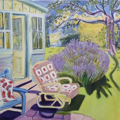 Janet Lance Hughes, 'Buzzing Lavender and Bamboo Chair', 2019