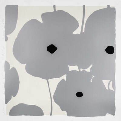 Donald Sultan, 'Silver Poppies', 2018