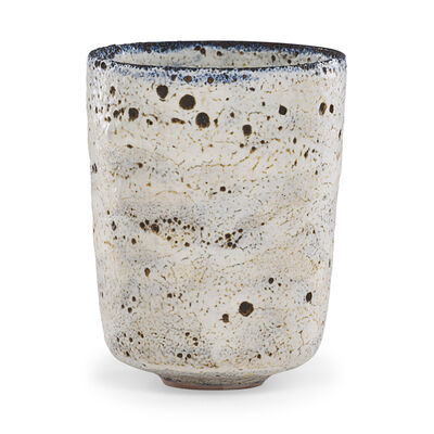 Gertrud Natzler, 'Fine straight-walled vessel, volcanic glaze, Los Angeles, CA'