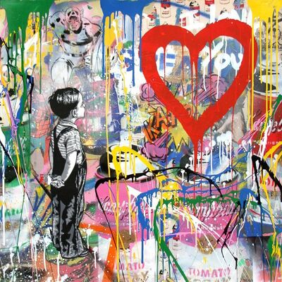 Mr. Brainwash, 'With All My Love', 2017