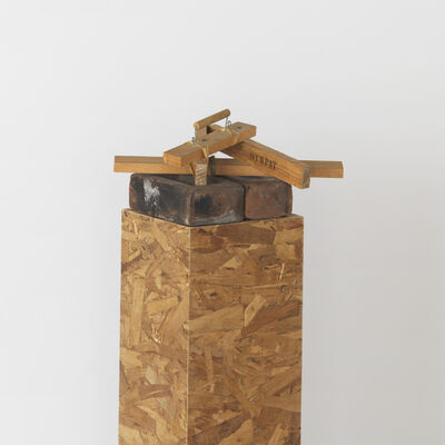 Georg Herold, 'Dividing Wood', 1988