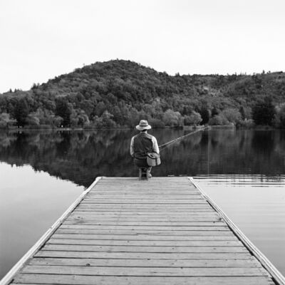 Rodney Smith, 'Terry Fishing at End of Dock', 1996