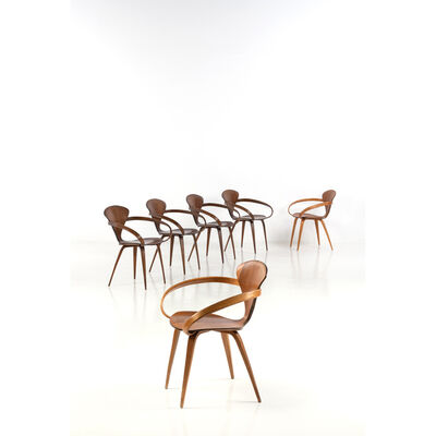 Norman Cherner, 'Set of six chairs', 1950