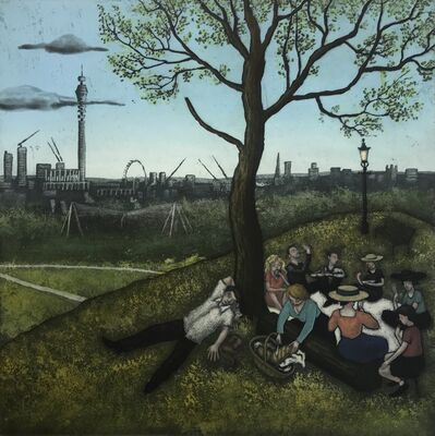 Mychael Barratt, 'Primrose Hill - Summer, after Bruegel', 2019