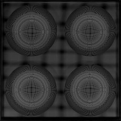 Hector Ramirez, '4 Esferas. Núcleo En Evolucion (Negro)', 2015