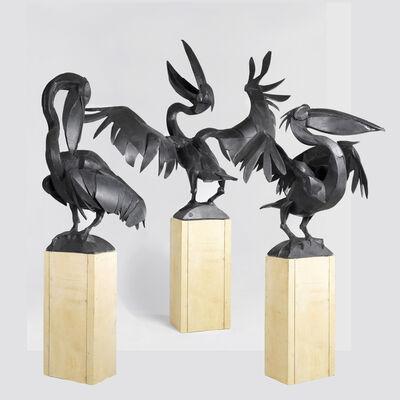 Sophie Dickens, 'Three Pelicans', 2017